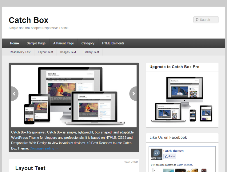 Catch Box - Template grátis para WordPress