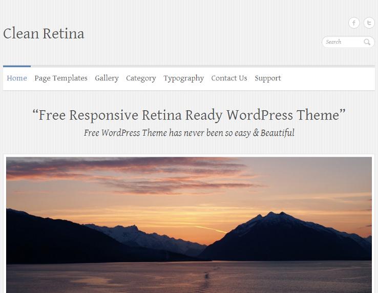 Clean Retina - Template grátis para WordPress