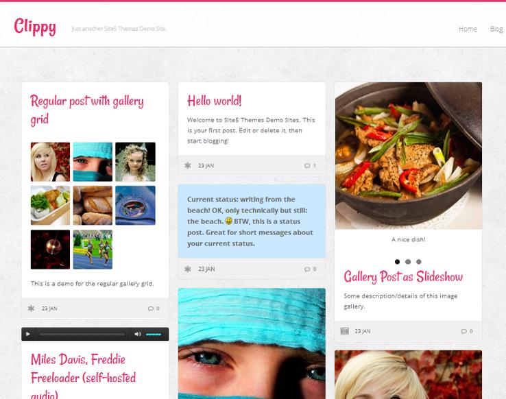 Clippy - Template grátis para WordPress