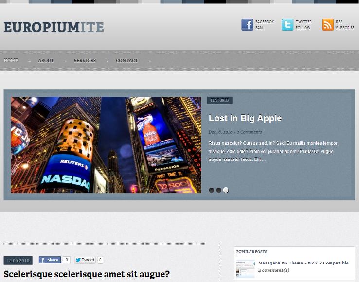 Europiumite - Template grátis para WordPress