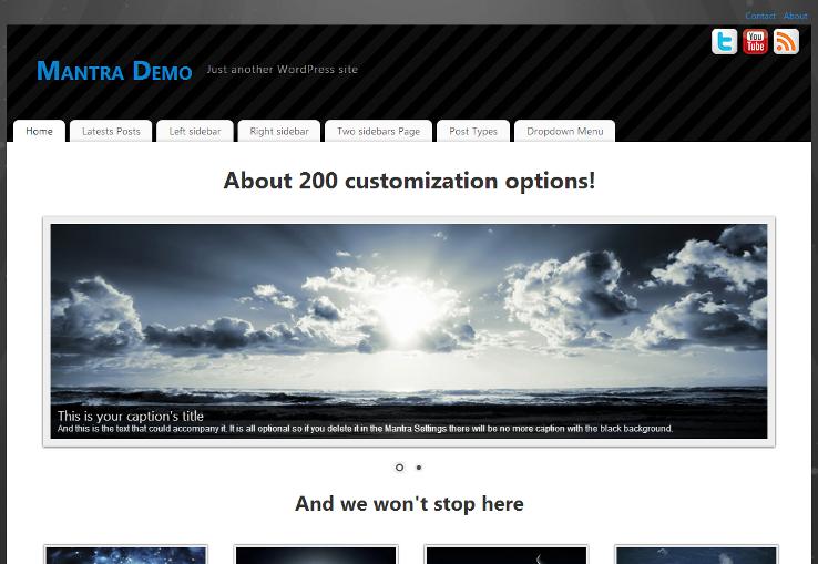 Mantra - Template grátis para WordPress