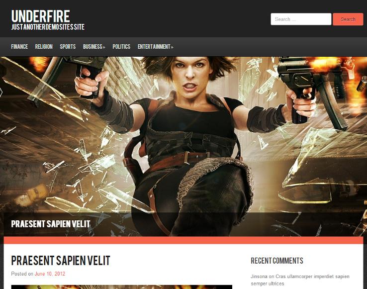 Underfire - Template grátis para WordPress