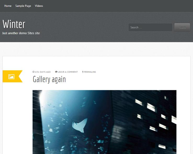 Winter - Template grátis para WordPress
